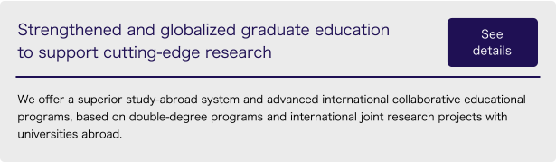 Strengthened and globalized graduate education to support cutting-edge research